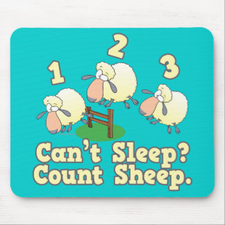 cant sleep count sheep cute cartoon design mouse pad