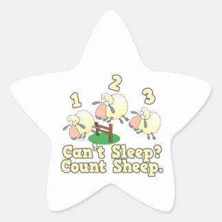 cant sleep count sheep cute cartoon design star sticker