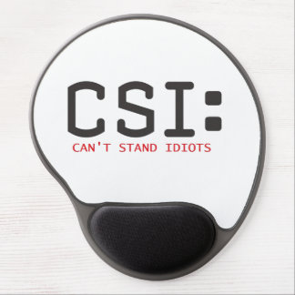 Cant Stand Idiots Gel Mouse Mat