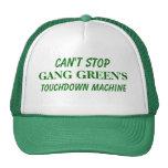 Can't Stop GANG GREEN'S Touchdown Machine Trucker Hat
