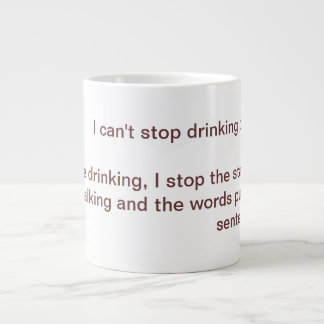 Can't Stop Giant Coffee Mug
