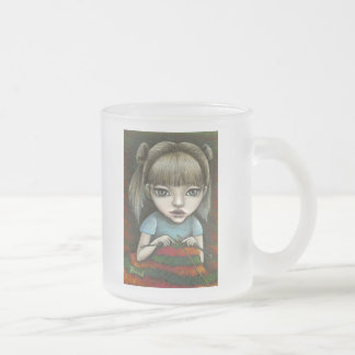 can't stop knitting frosted glass coffee mug