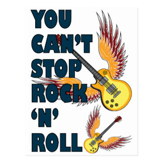 Cant stop rock n roll postcard