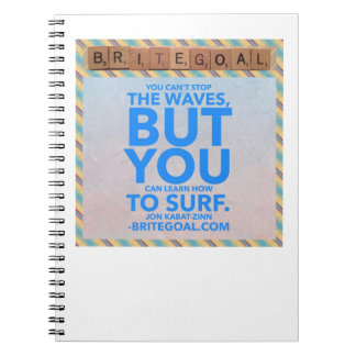 Can't stop waves but you can learn to surf notebook