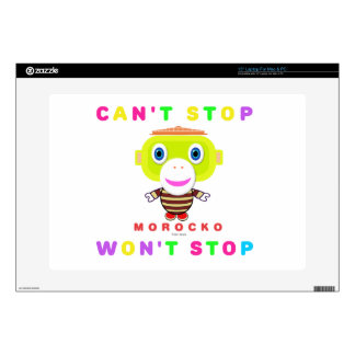 CAN'T STOP WON'T STOP-Cute Monkey-Morocko Skins For Laptops