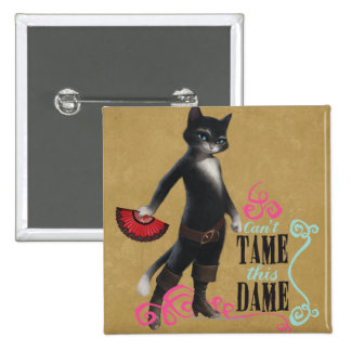 Can't Tame This Dame (color) 2 Inch Square Button