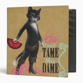 Can't Tame This Dame (color) 3 Ring Binder
