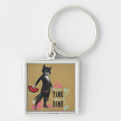 Can't Tame This Dame (color) Key Chain