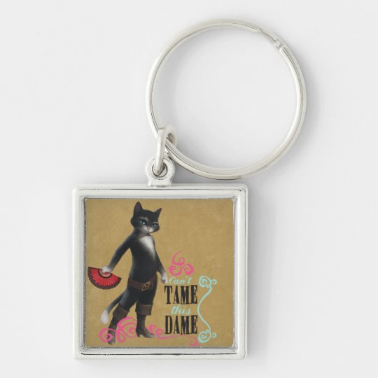 Can't Tame This Dame (color) Keychain