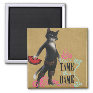Can't Tame This Dame (color) 2 Inch Square Magnet