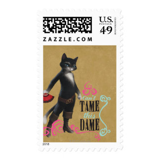 Can't Tame This Dame (color) Postage Stamps
