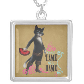 Can't Tame This Dame (color) Silver Plated Necklace