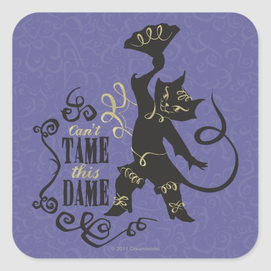 Can't Tame This Dame Square Sticker