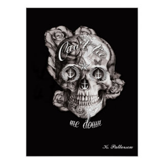 Can't tie me Down Nautical Skull Poster. Poster