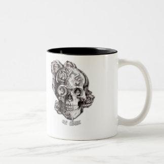 Can't Tie me Down, Nautical Skull. Two-Tone Coffee Mug