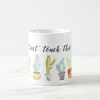 Can't Touch This | Cactus Watercolor Coffee Mug
