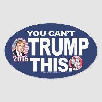 Can't Trump This Anti-Hillary 2016 Oval Sticker