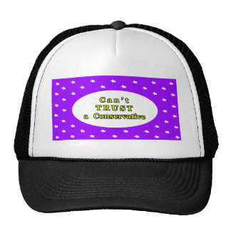 Can't TRUST a Conservative Purple Stars The MUSEUM Hat