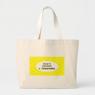 Can't TRUST a Conservative Yellow Stars The MUSEUM Jumbo Tote Bag