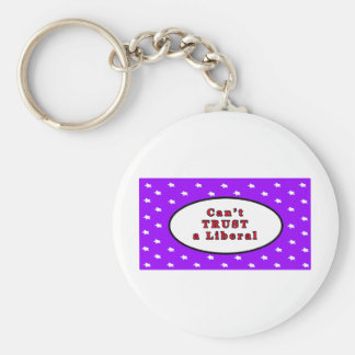 Can't TRUST a Liberal Purple Stars The MUSEUM Zazz Basic Round Button Keychain