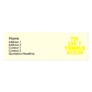 Can't Tumble with us Double-Sided Mini Business Cards (Pack Of 20)