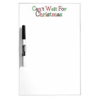 Can't Wait For Christmas Dry-Erase Board