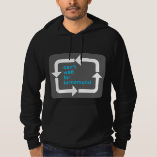 Can't Wait for Turnaround hoodie (bluetext)