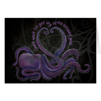 Can't Wait to Get My Arms Around You Notecard Stationery Note Card