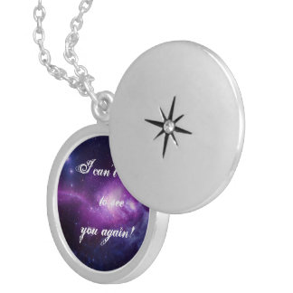 Can't wait to see you again silver plated necklace