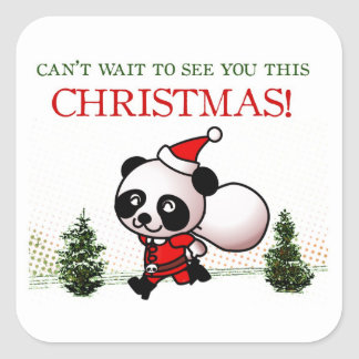 Can't wait to see you this Christmas! Square Sticker
