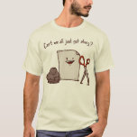 "Can&#39;t we all just get along? Shirt<br><div class=""desc"">Rock,  Paper,  Scissors! Stop battling and start getting along.</div>"