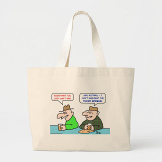 can't win beat point spread jumbo tote bag