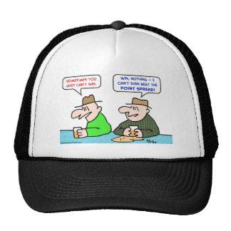 can't win beat point spread trucker hat