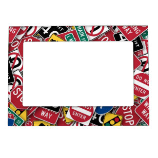 Can't You Read The Signs Magnetic Photo Frame