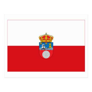 Cantabria flag post card