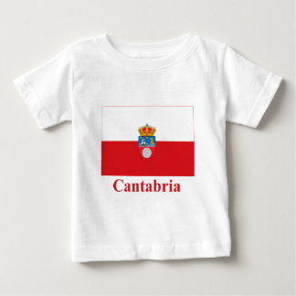 Cantabria flag with name baby T-Shirt