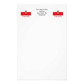 Cantabria flag with name stationery