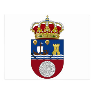 Cantabria (Spain) Coat of Arms Postcard