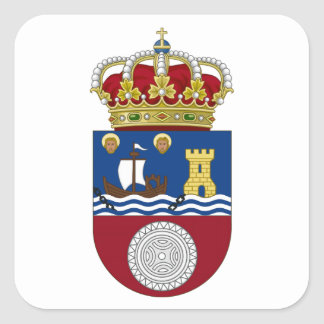 Cantabria (Spain) Coat of Arms Square Sticker
