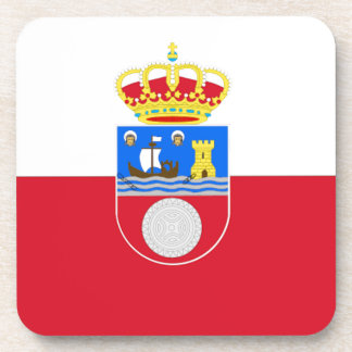 Cantabria Spain Flag Drink Coasters