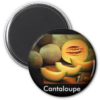 Cantaloupe 2 Inch Round Magnet
