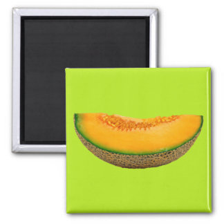 Cantaloupe 2 Inch Square Magnet
