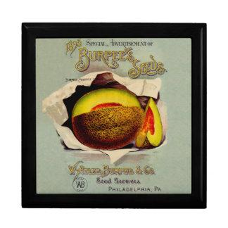 Cantaloupe Fruit Seed Advertising Vintage Gift Box