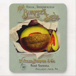 Cantaloupe Fruit Seed Advertising Vintage Mouse Pad