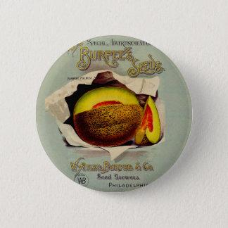 Cantaloupe Fruit Seed Advertising Vintage Pinback Button