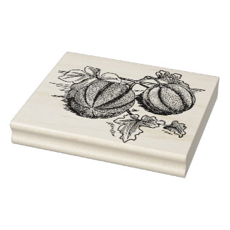 Cantaloupe on the Vine Rubber Stamp