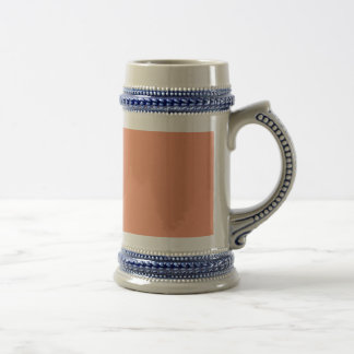 Cantaloupe pink Orange template to Customize Beer Stein