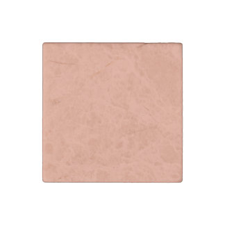 Cantaloupe pink Orange template to Customize Stone Magnet