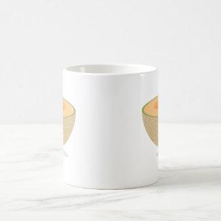 Cantalupo sonriente taza básica blanca