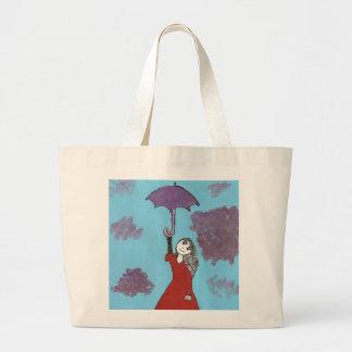 Cantando en las nubes, chica gótico del paraguas bolsa de mano